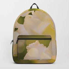 Sword Lily Green Bokeh Backpack