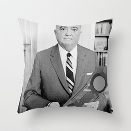 J. Edgar Hoverboard Throw Pillow
