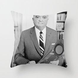 J. Edgar Hoverboard Throw Pillow