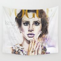 lana Wall Tapestries featuring Lana by Kim Morrow