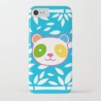 murakami iPhone & iPod Cases featuring Rainbow Panda by XOOXOO