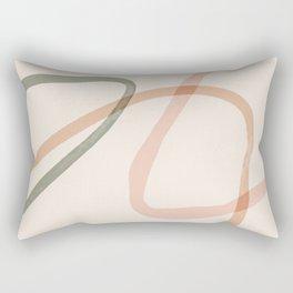 In Between The Lines Of Elegance Rectangular Pillow
