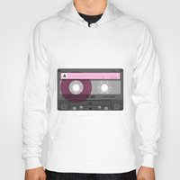 cassette Hoodies featuring Cassette by Sedef Uzer