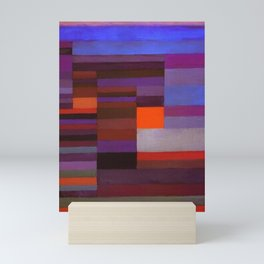 Paul Klee Fire In The Evening Colorful Abstract Art Mini Art Print
