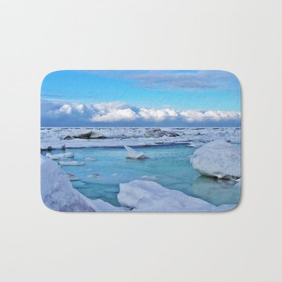 Frozen, and clouds on the Horizon Bath Mat