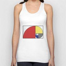 Mondrian vs Fibonacci Unisex Tank Top