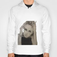 miley cyrus Hoodies featuring Miley Cyrus by Brittany Ketcham