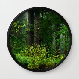 Mist Throughout the Forest Wall Clock