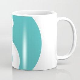 Yin & Yang (Teal & White) Coffee Mug