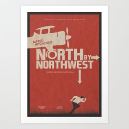 North by Northwest - Alfred Hitchcock Movie Poster Art Print