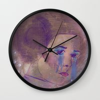 princess leia Wall Clocks featuring Princess Leia  by Mara Valladares