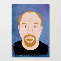 louis ck Canvas Prints featuring Louis CK by Douglas Harrower