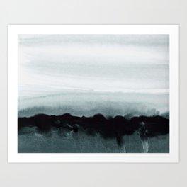 blurred landscape Art Print