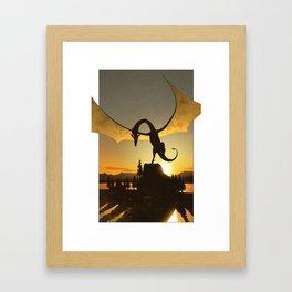 Dragon Sunset Framed Art Print