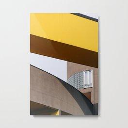 Gallaratese ᝢ Milano Italy travel photography art ᝢ dynamic yellow architectural photo print Europe Metal Print