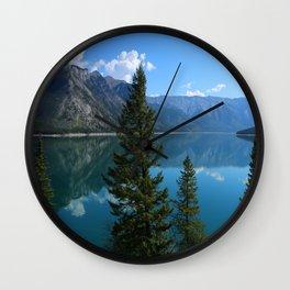 Beautiful Lake Minnewanka Wall Clock