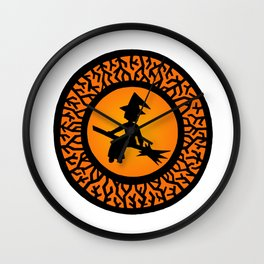 The Witch's Shadow Wall Clock