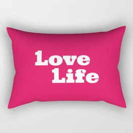 One Love, One Life, Love Life (red) Rectangular Pillow