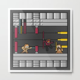 Mega Boss Battles - Darth Maul vs. Obiwan & Qui Gon Metal Print
