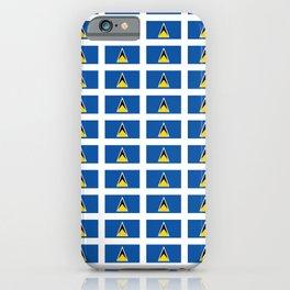 Sainte lucieFlag of Saint Lucia-Saint Lucia,Sainte Lucie,Saint Lucian,Lucien,Castries. iPhone Case