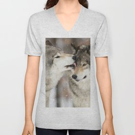 Wolf Kisses Unisex V-Neck