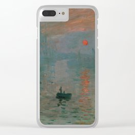 Claude Monet - Impression, Sunrise Clear iPhone Case
