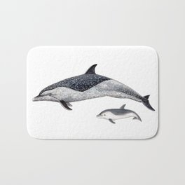 Pantropical spotted dolphin Bath Mat