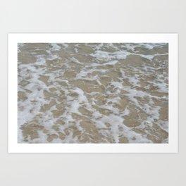 Foam of the ocean Art Print