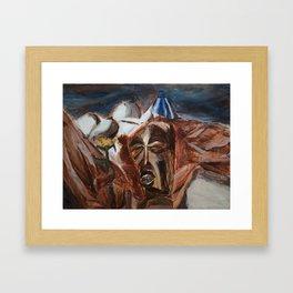 Mask Still-Life Framed Art Print