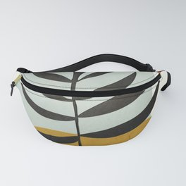 Soft Abstract Large Leaf Fanny Pack