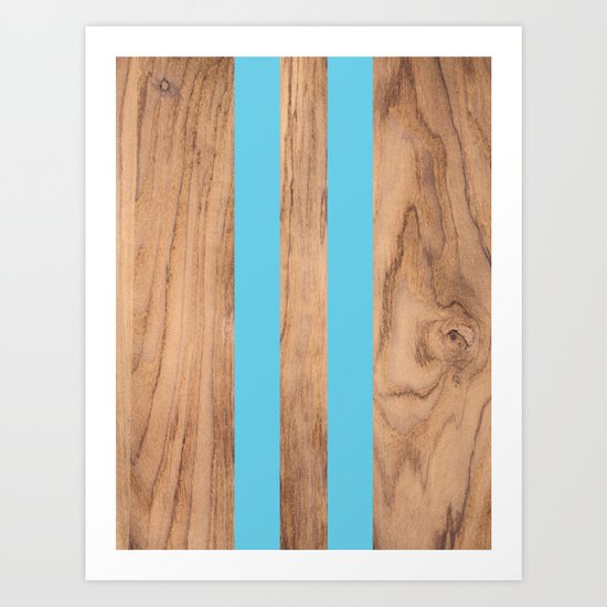 Striped Wood Grain Design - Light Blue #807 by naturalcollective