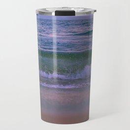 Pink Sunset Ocean Travel Mug