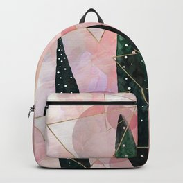 Plant circles & triangles Backpack