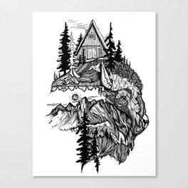 White Buffalo Canvas Print
