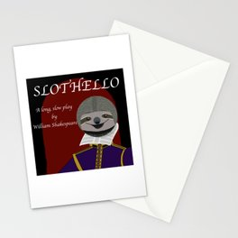 Slothello - a long, slow play by William Shakespeare Stationery Cards