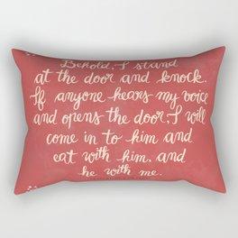 Revelation 3:20 Rectangular Pillow