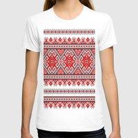 ukraine T-shirts featuring Ukraine-ornament 2 by  Nikolay Ampilogow