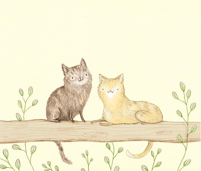 Cats on the Fence Metal Travel Mug