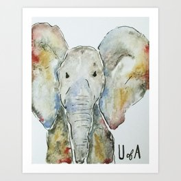 Crimson Tide Elephant Art Print