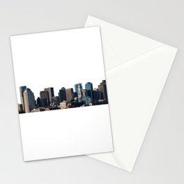 Boston Massachusetts Skyline Simple Stationery Cards