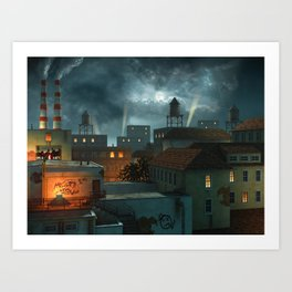 Zone Industrielle Art Print