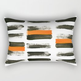 orange stripes Rectangular Pillow