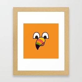 Monsticky Orange Framed Art Print