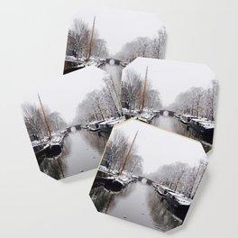 Winter in Amsterdam Coaster