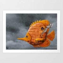 Steampunk Butterflyfish II Art Print