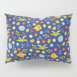 Easter Eggs and Yellow Baby Chick Pattern Pillow Sham
