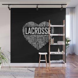 Love Lacrosse Heart Wall Mural