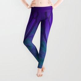 Violet Mermaid Scales Leggings
