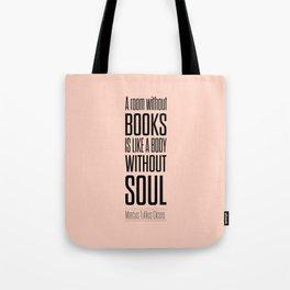 Lab No. 4 - Marcus Tullius Cicero Inspirational Quotes Poster Tote Bag