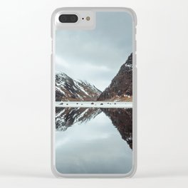 Reflected Mountain Clear iPhone Case